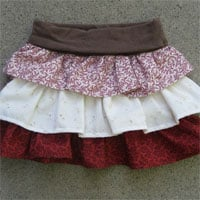 Peek-A Boo Adele 3 Tier Ruffle Skirt Digital Pattern ( Size 3 mo -8 years )