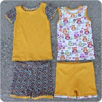 Peek-A Boo Alex & Anna Summer PJs Digital Pattern ( Size 6 mo -8 years )