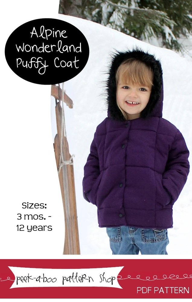 Peek-a-Boo Pattern Shop Alpine Wonderland Puffy Coat Downloadable Pattern Alpine Wonderland Puffy Coat