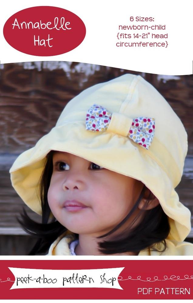 Peek-a-Boo Pattern Shop Annabelle Hat Downloadable Pattern Annabelle Hat