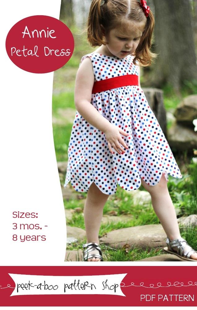 Peek-a-Boo Pattern Shop Annie Petal Dress Downloadable Pattern Annie Petal Dress