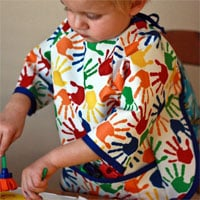 Peek-A Boo Art Smock Digital Pattern ( Size 2T-7 )