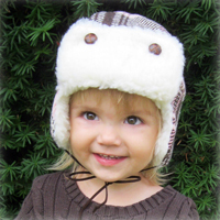 Peek-A Boo Aviator Cap Digital Pattern ( Size 0 mo -10 years )