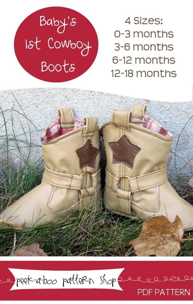Peek-a-Boo Pattern Shop Cowboy Boots Downloadable Pattern Cowboy Boots