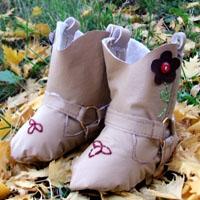 Peek-A Boo Cowboy Boots Digital Pattern ( Size 3 mo -18 mo )