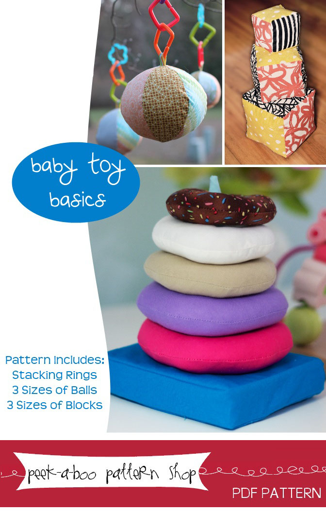 Peek-a-Boo Pattern Shop Baby Toy Basics Downloadable Pattern Baby Toy Basics