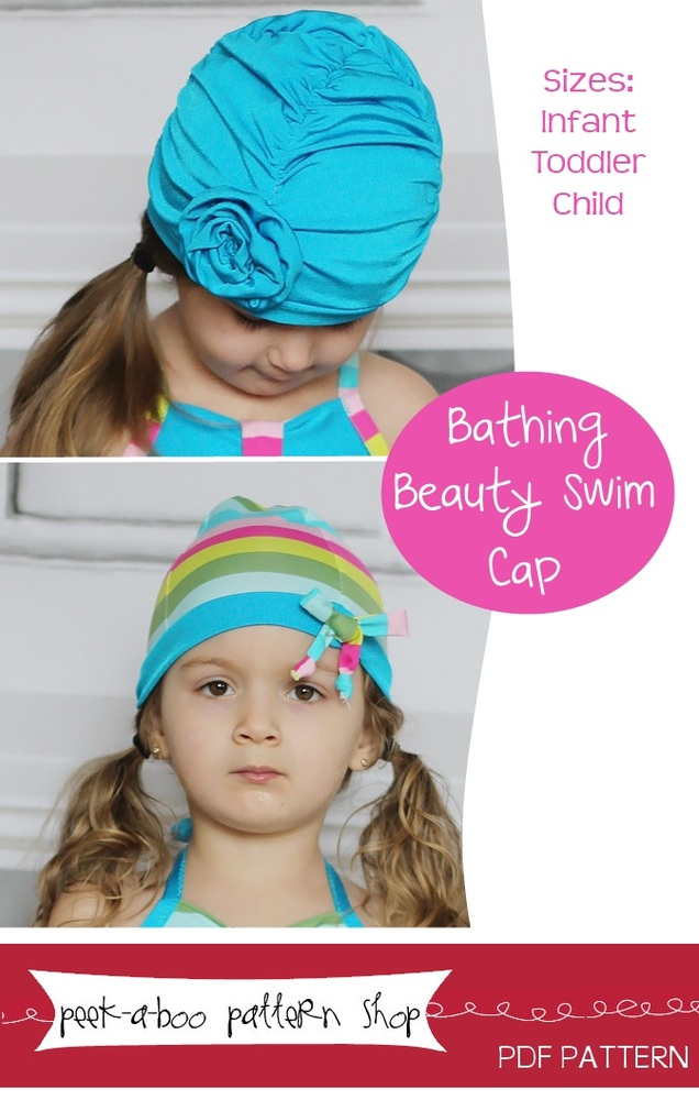 Peek-a-Boo Pattern Shop Bathing Beauty Swim Cap Downloadable Pattern Bathing Beauty Swim Cap