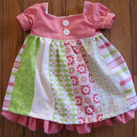 Peek-A Boo Birthday Girl Dress Digital Pattern ( Size 3 mo -8 years )