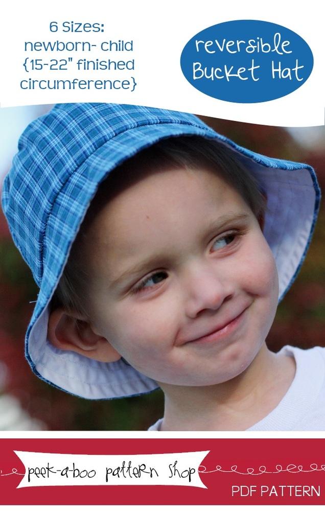 Peek-a-Boo Pattern Shop Bucket Hat Downloadable Pattern Bucket Hat