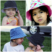 Peek-A Boo Bucket Hat Digital Pattern ( Size 3 mo -8 years )