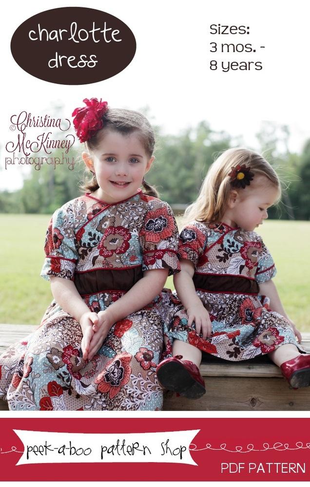Peek-a-Boo Pattern Shop Charlotte Dress Downloadable Pattern Charlotte Dress