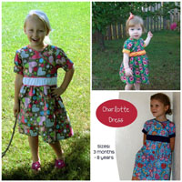 Peek-A Boo Charlotte Dress Digital Pattern ( Size 3 mo -8 years )