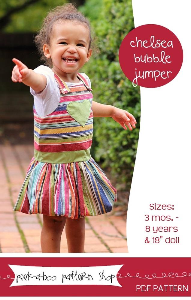 Peek-a-Boo Pattern Shop Chelsea Bubble Jumper Downloadable Pattern Chelsea Bubble Jumper