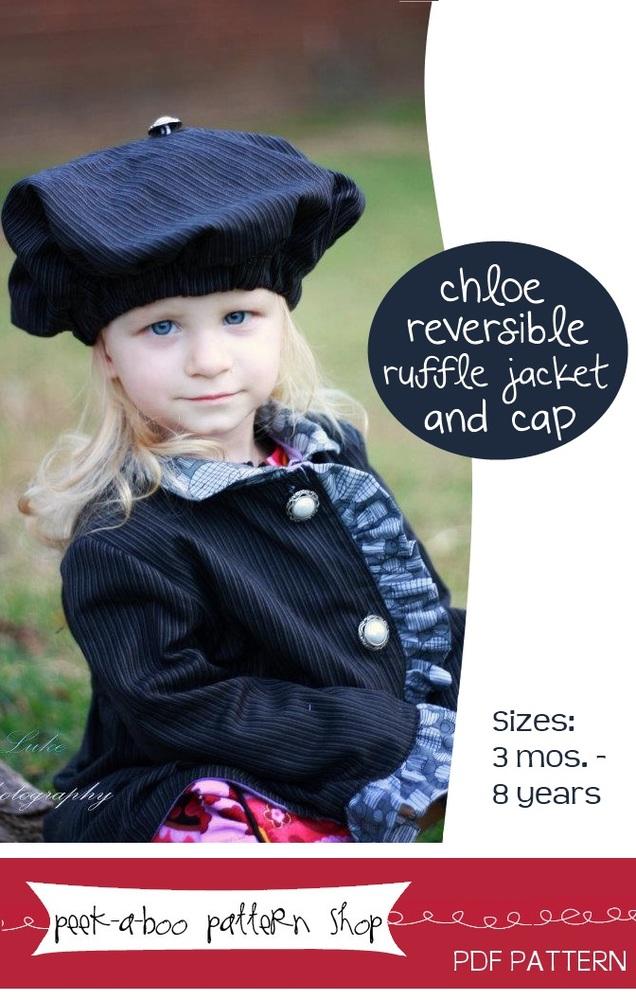 Peek-a-Boo Pattern Shop Chloe Ruffle Jacket Downloadable Pattern Chloe Ruffle Jacket