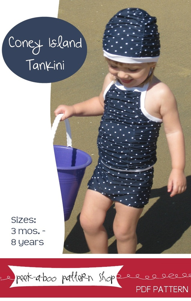 Peek-a-Boo Pattern Shop Coney Island Tankini Downloadable Pattern Coney Island Tankini