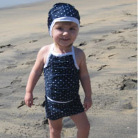 Peek-A Boo Coney Island Tankini Digital Pattern ( Size 3 mo -8 years )