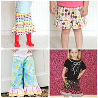 Peek-A Boo Cutie Pie Ruffle Pants, Shorts and Capris Digital Pattern ( Size 3 mo -8 years )