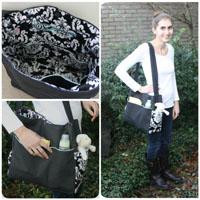 Peek-A Boo Does it all Diaper Bag Digital Pattern ( Size one size )