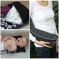 Peek-A Boo Does it all Diaper Clutch Digital Pattern ( Size one size )