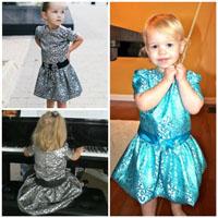 Peek-A Boo Ella Party Dress Digital Pattern ( Size 3 mo -8 years )