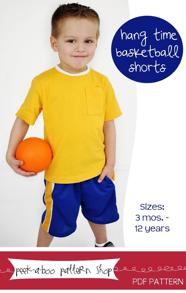 Peek-a-Boo Pattern Shop Hang Time Basketball Shorts Downloadable Pattern Hang Time Basketball Shorts