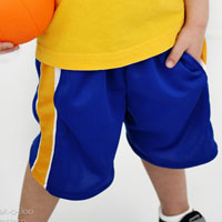 Peek-A Boo Hang Time Basketball Shorts Digital Pattern ( Size 3 mo -12 years )