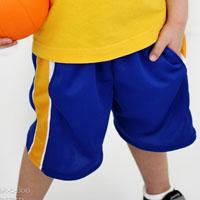 Peek-A Boo Hang Time Basketball Shorts Digital Pattern ( Size 3 mo -12 years )