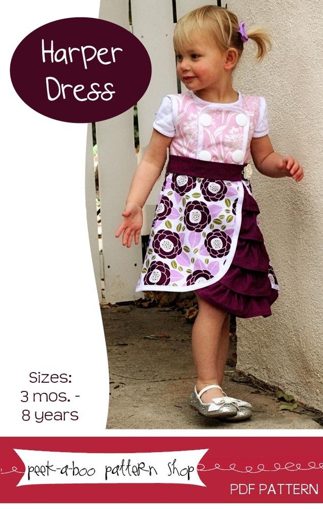 Peek-a-Boo Pattern Shop Harper Dress Downloadable Pattern Harper Dress