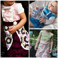 Peek-A Boo Harper Dress Digital Pattern ( Size 3 mo -8 years )