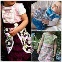 Peek-A Boo Harper Dress Digital Pattern ( Size 3 mo -8 years )