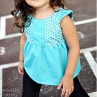 Peek-A Boo Hopscotch Top, Tunic, and Dress Digital Pattern