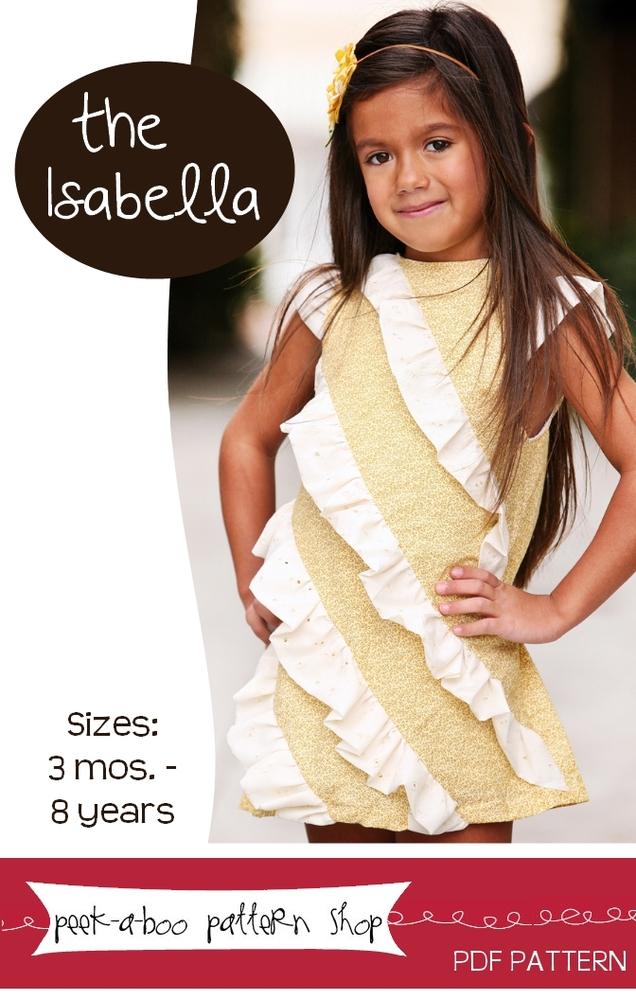 Peek-a-Boo Pattern Shop Isabella Dress Downloadable Pattern Isabella Dress