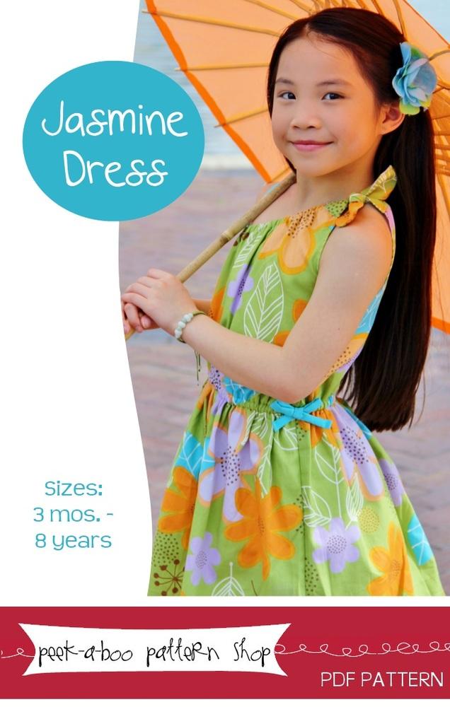 Peek-a-Boo Pattern Shop Jasmine Dress Downloadable Pattern Jasmine Dress
