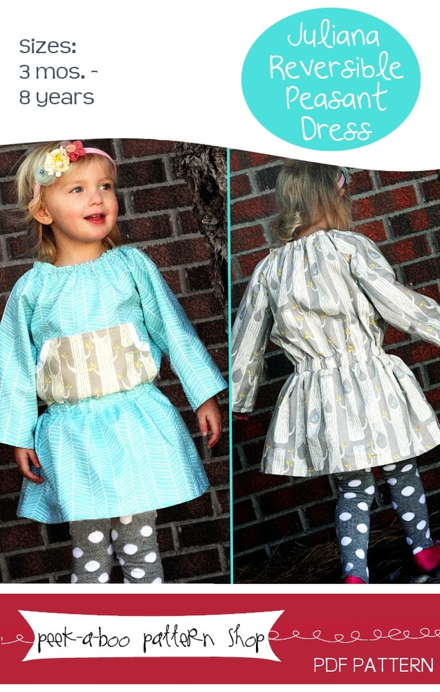 Peek-a-Boo Pattern Shop Juliana Peasant Dress Juliana Peasant Dress