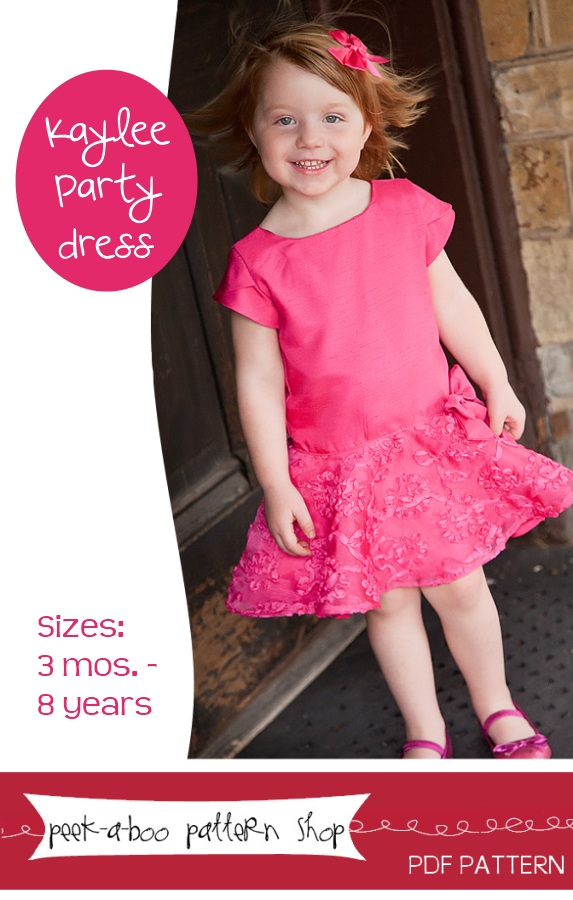 Peek-a-Boo Pattern Shop Kaylee Party Dress Downloadable Pattern Kaylee Party Dress