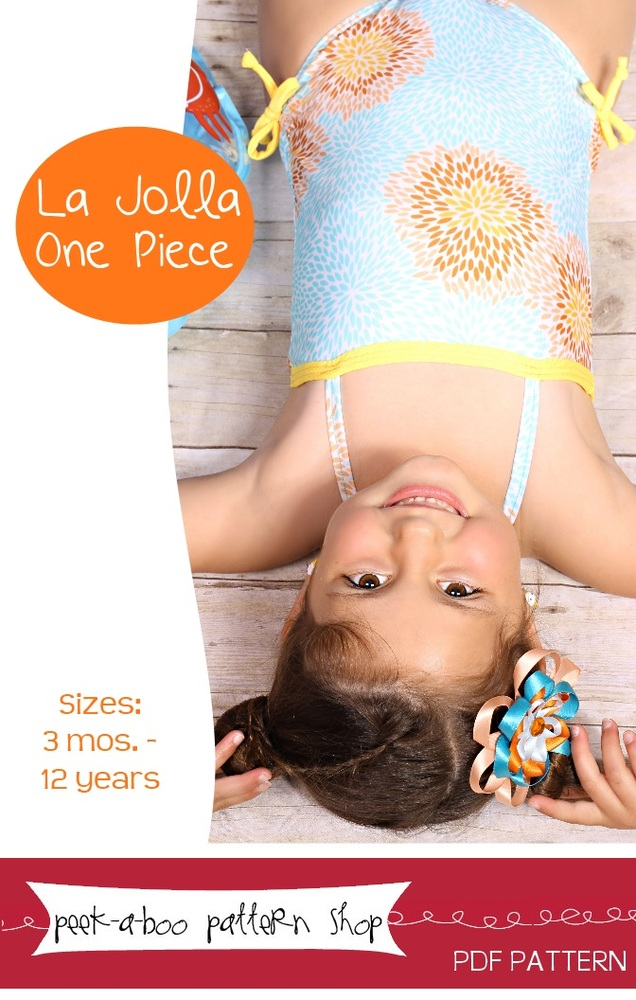 Peek-a-Boo Pattern Shop La Jolla Swimsuit Downloadable Pattern La Jolla Swimsuit