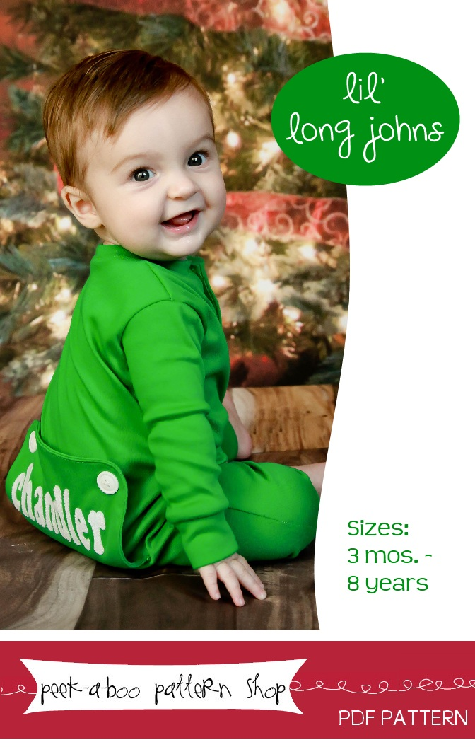 Peek-a-Boo Pattern Shop Lil-Long Johns Downloadable Pattern Lil-Long Johns