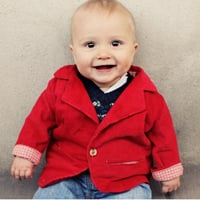Peek-A Boo Little Gentelman Suit Jacket Digital Pattern ( Size 3 mo -12 years )
