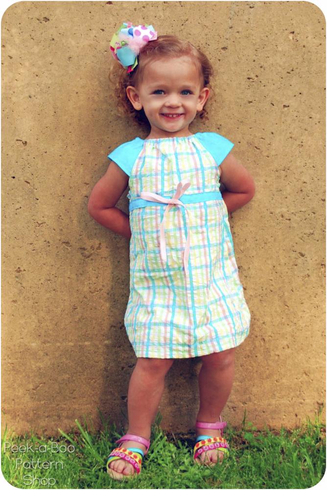Peek-a-Boo Pattern Shop Lucy Dress Downloadable Pattern Lucy Dress