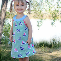Peek-A Boo Madison Dress Digital Pattern ( Size 3 mo -8 years )