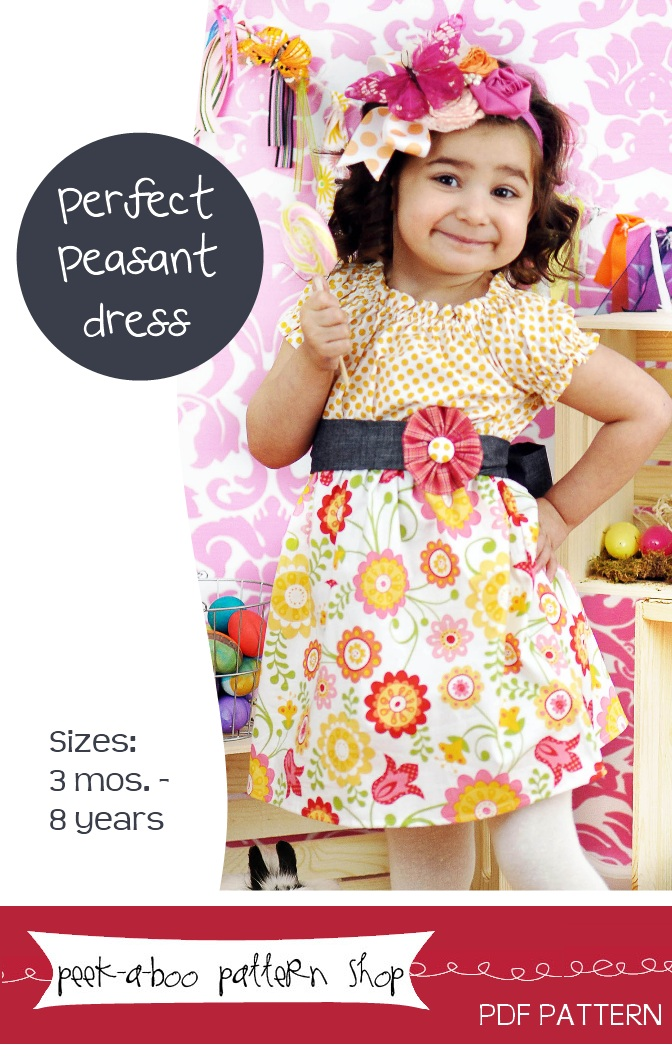 Peek-a-Boo Pattern Shop Perfect Peasant Dress Downloadable Pattern Perfect Peasant Dress