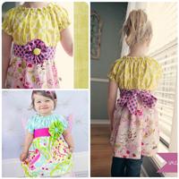Peek-A Boo Perfect Peasant Dress Digital Pattern ( Size 3 mo -8 years )