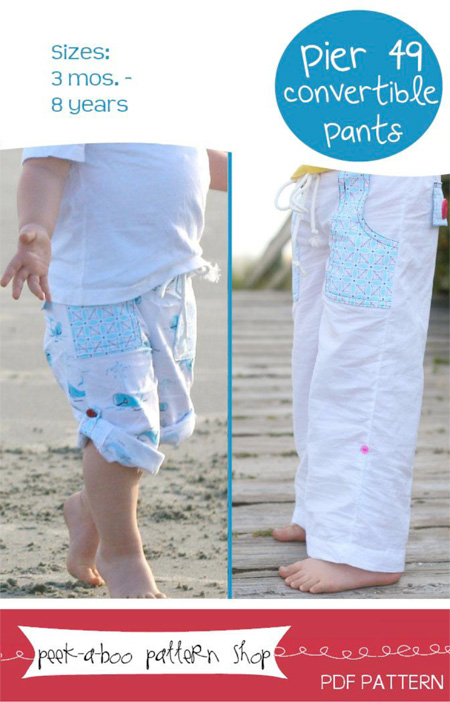 Peek-a-Boo Pattern Shop Pier 49 Convertible Pants Downloadable Pattern Pier 49 Convertible Pants