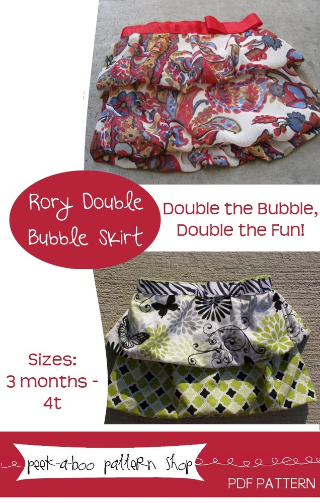 Peek-a-Boo Pattern Shop Rory Double Bubble Skrit Downloadable Pattern Rory Double Bubble Skrit