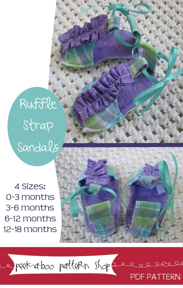 Peek-a-Boo Pattern Shop Ruffle Strap Sandals Ruffle Strap Sandals