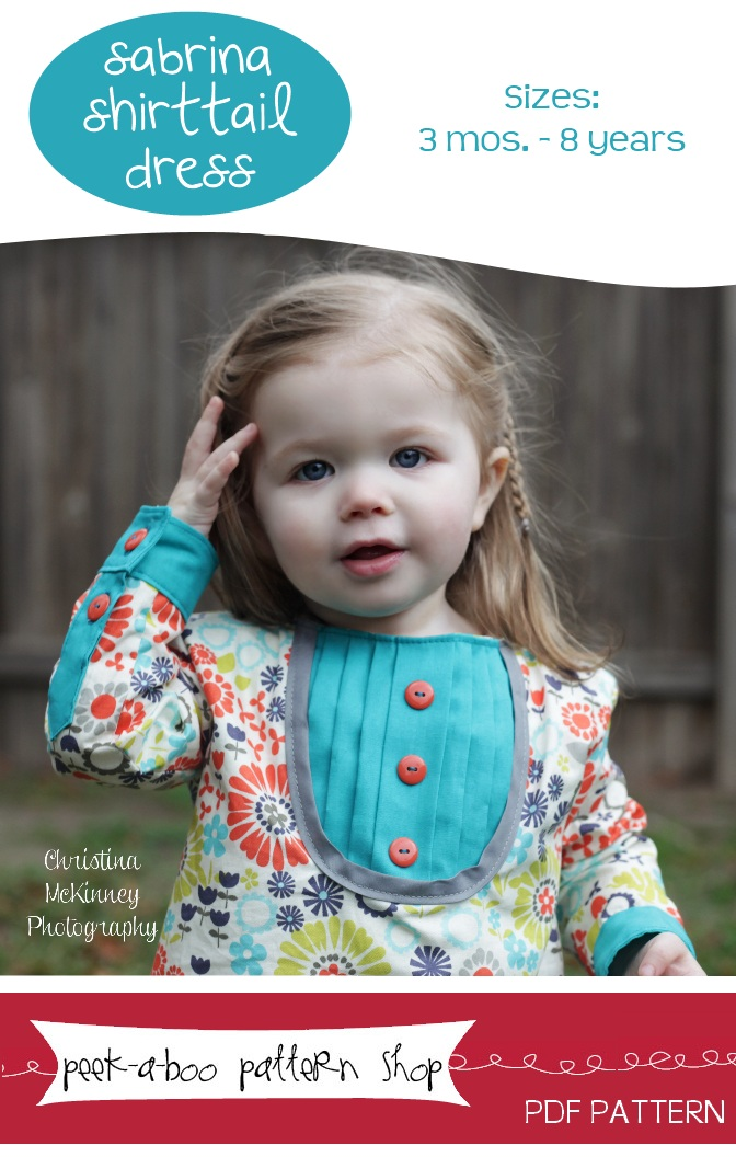 Peek-a-Boo Pattern Shop Sabrina Shirttail Dress Downloadable Pattern Sabrina Shirttail Dress