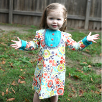 Peek-A Boo Sabrina Shirttail Dress Digital Pattern ( Size 3 mo -8 years )