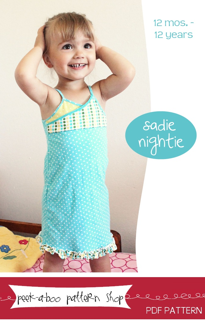 Peek-a-Boo Pattern Shop Sadie Downloadable Pattern Sadie