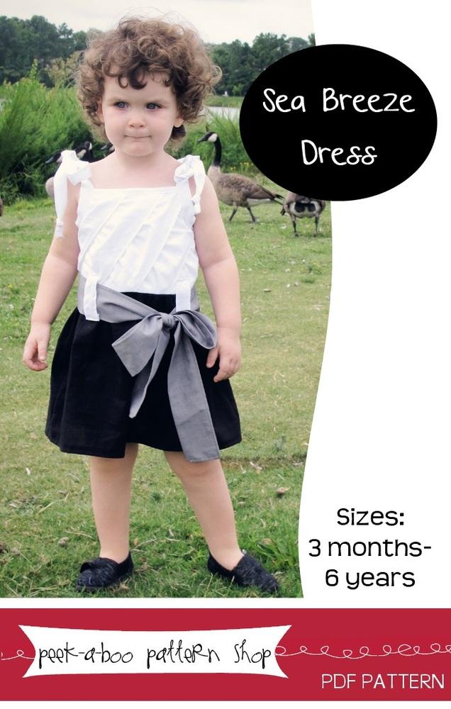 Peek-a-Boo Pattern Shop Sea Breeze Dress Downloadable Pattern Sea Breeze Dress