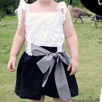 Peek-A Boo Sea Breeze Dress Digital Pattern ( Size 3 mo -6 years )